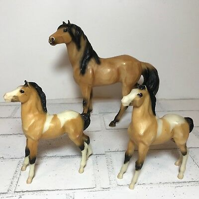 Vintage Lot of 3 Breyer Horses Ponies Mares Colt Foal