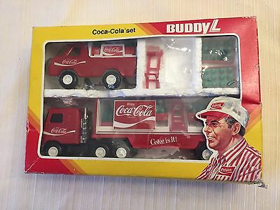 1981 Buddy L Coca Cola Delivery Truck Set in box 666H