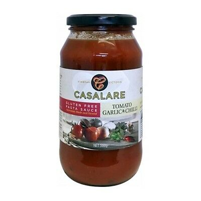 NEW  CASALARE Pasta Sauce Tomato, Garlic & Chillie 500g