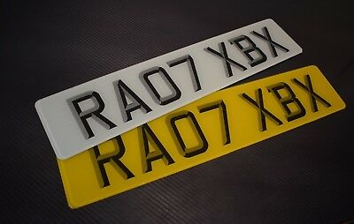 Pair 3D Euro road legal Number Plates 100% MOT Compliant - FREE POSTAGE