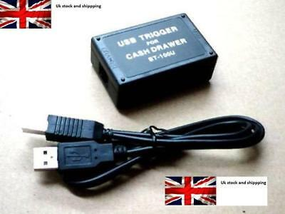 USB Trigger Module for POS Cash Drawers BT-100U for PC Windows Mac Linux