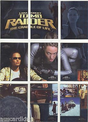 Tomb Raider The Cradle Of Life - Puzzle Chase Card Set (9) Inkworks 2003 - NM