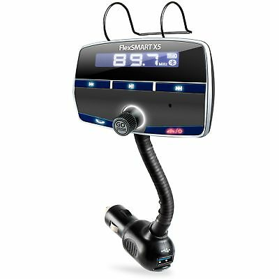 In-Car Bluetooth FM Transmitter Kit with Hands-Free Calling , Music Playback ...