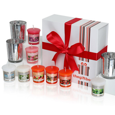 Exclusive Scented Candles Gift Set by TheGiftBox Containing 8 Beautifully Scente