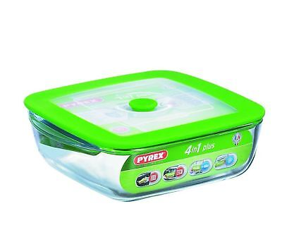 Pyrex 4936928 Dish 4 in 1 Rectangular with Steaming Lid 2.2 L 25 x 22 x 7 cm ...