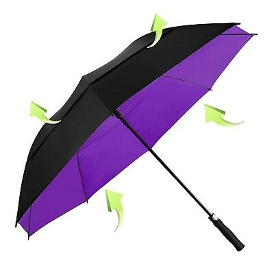 Koler Golf Umbrella Windproof 62 Inch Oversized Double Vented Canopy Auto Ope...