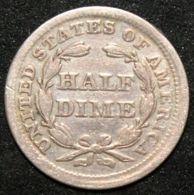 1857 | U.S.A. Seated Liberty Half Dime | Silver | Coins | KM Coins