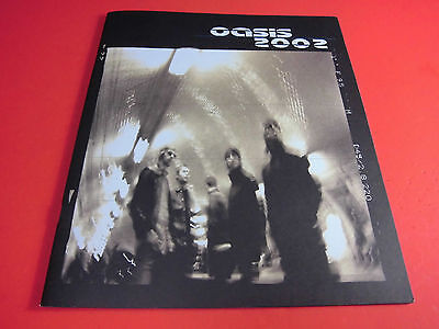 VERY RARE! OASIS 2002 Tour Program Concert Booklet Pamphlet