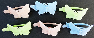 6 Vintage 1960s Butterfly Hairclips - 3.5cm
