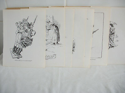 Lot of mixed bookplates from Childrens Nursery Rhymes book Ref 1