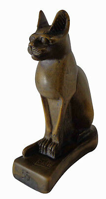 "Egypt Bastet Bast Goddess Cat Pharaoh Figurine Statue Ancient 3.5"" Sculpture 233"