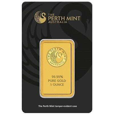 Perth Mint Kangaroo 1oz  .999 Minted Solid Gold Bar (Certicard)