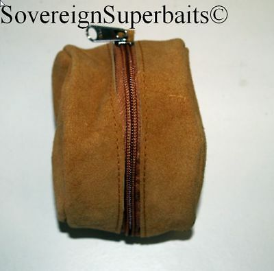 Genuine suede/brushed pig skin reel cases. doubles & singles available
