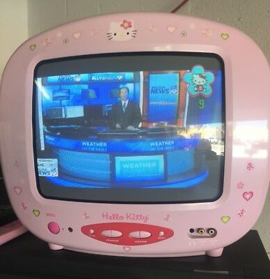 "Sanrio HELLO KITTY 13"" Color TV Television with REMOTE by Emerson #KT2114"