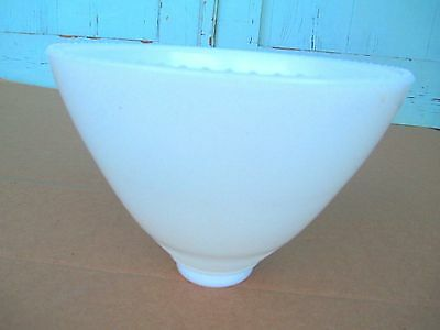 "vintage / old  MILK GLASS  shade TORCHIERE / HANGING 2-1/4""  "" Beaded Trim Rim """