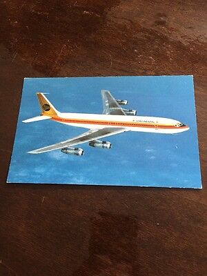 Continental Airlines 707 Boeing post card, Unused