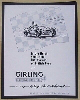 Girling Gears Ltd, Tyseley, Birmingham - Original Vintage Advert  June 1954