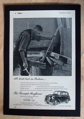 Triumph Cars Original Vintage Advert From The Motor Magazine 1951