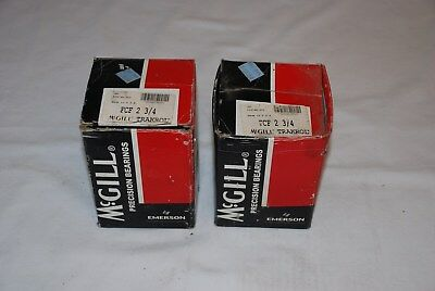 Mcgill Trakrol Precision Bearings Fcf 2 3/4 New Unused Inventory Lot Of 2