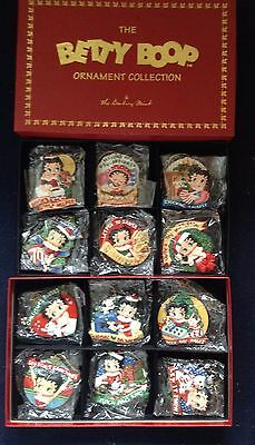 Brand New in Box Dansbury Mint Betty Boop Christmas Ornaments Collection 12 pcs.