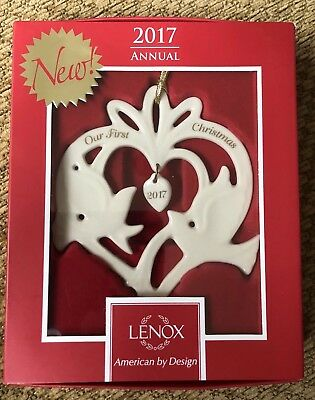 Lenox 2017 Our 1st Christmas Together Dove Ornament