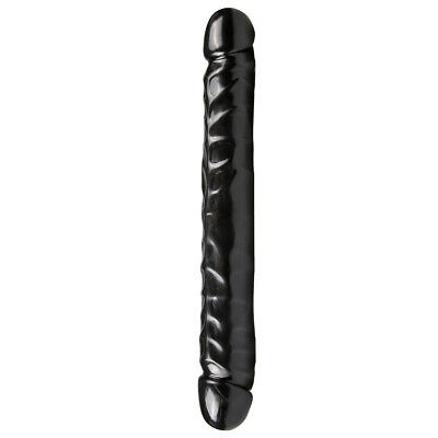 The Classics - Double Gode - Jr. Veiné Double tête Dildo - Noir