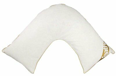 V Shaped Goose Duck Feather & Down Pregnancy Pillow Nursing Orthopedic Support