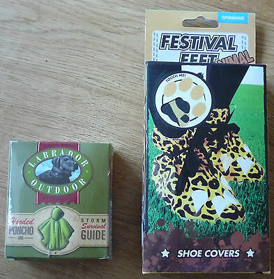 New Festival Feet Animal Shoe Covers Cheetah Shoes Protectors and Hooded Poncho