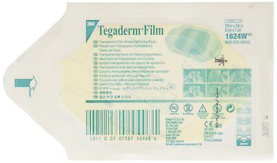 3M Tegaderm Transparent Film Dressing. Ref 1624W. 6cm x 7cm. Medical & Tattoo