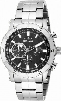 Invicta Specialty 18161 Men's Round Black Chronograph Stainless Steel Watch