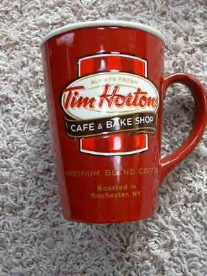 Tim Horton's 2011 Limited Edition Coffee Mug Red EUC Rochester Cup USA