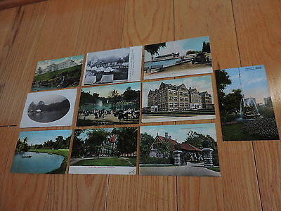 Vintage Postcard Lot Cleveland Ohio Brookside Park & More Rockefeller (cp781)