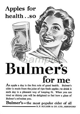 Vintage Bulmers For Me Cider Advertising A3 Poster Print