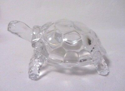 CRISTAL d'ARQUES CRYSTAL TURTLE TORTOISE ANIMAL FOLLIES SERIES MADE IN FRANCE