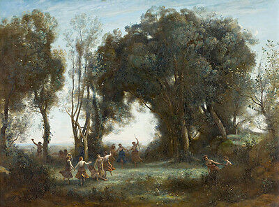 Dance of the Nymphs by Jean Baptiste Camille Corot 75cm x 55.5cm Canvas Print