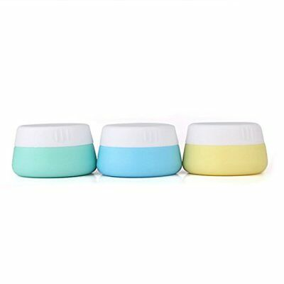 Silicone Cosmetic Containers Cream Jar With Sealed Lids, 3 Pieces 20 Ml By Mudde
