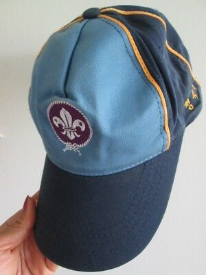 Boy scout hat korean cub embroidered patch applique blue baseball cap small size