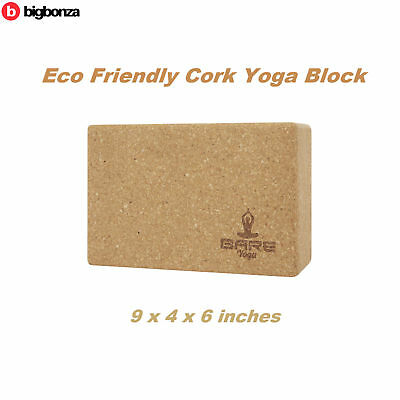 Yoga Block Cork Prop Accessory Pilates Natural Eco Friendly