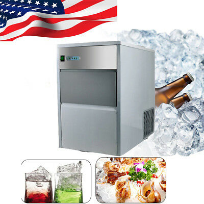 Professional Commercial Ice Maker Portable Ice Cube Machine Restaurant Bar【USPS】