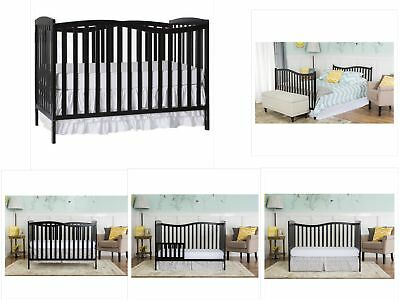 5 In 1 Convertible Crib Nursery Baby Bed Toddler Full Size Children