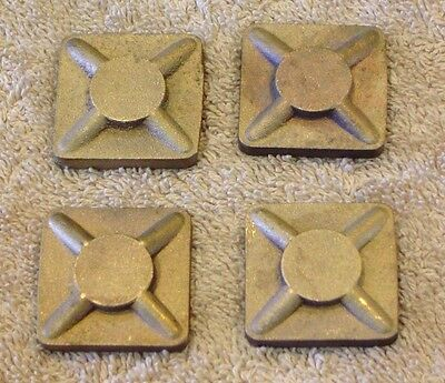 Power Models 2 1/2 inch Scale Live Steam Bronze Square Bolt Washers, set of 4