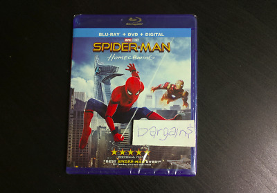 Spider-Man Homecoming Blu-ray + DVD + Digital - Brand New Sealed FREE Shipping