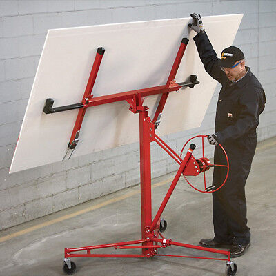 11FT Drywall & Panel Lift Hoist Heavy Duty Plaster Board Sheet Home Lifter Tools