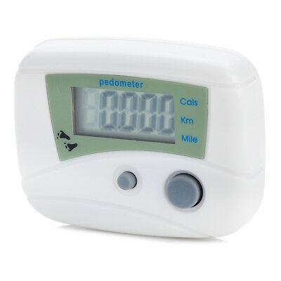 Lcd Pedometer Step Calorie Counter Hiking Walking Jogging Running Distance
