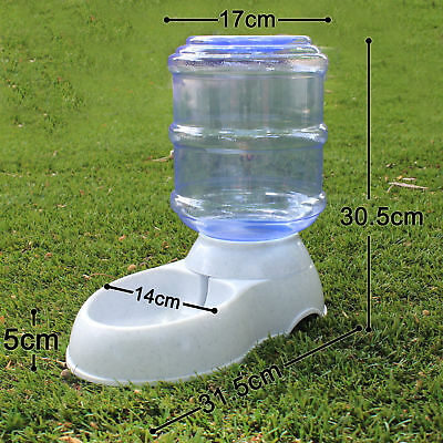 Automatic Pet Dog Cat Water Feeder Bowl Bottle Dispenser Plastic 4 Liters