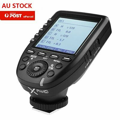 AU Newest Godox XPro-C 2.4G E-TTL Wireless Flash Trigger For Canon EOS Cameras