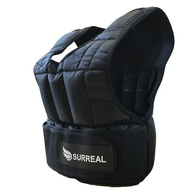 Surreal Adjustable Weighted Vest 5/10/15/20/30KG for Weight Loss Running Trai...