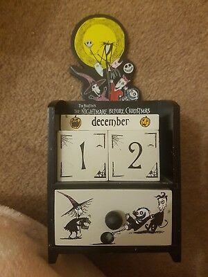 Rare Nightmare Before Christmas Block Calender