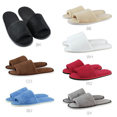 Women Men Open Toe Winter Warm Fleece Anti-slip Slippers House Indoor Shoes AU