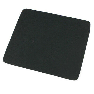 22*18cm Universal Mouse Pad Mat for Laptop Computer Tablet PC Black Soft